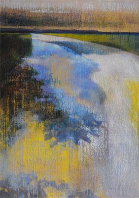 Destination bleue - 92x65 cm - Acrylique sur toile
