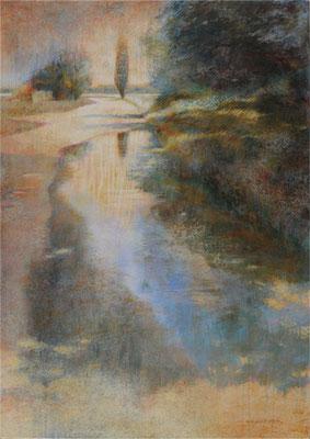 Horizons humides - 92x65 cm - Acrylique sur toile