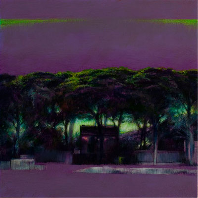 Crépuscule - 40x40 cm - Acrylique sur toile