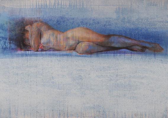 Entre ciel et chair - 65x92 cm - Acrylique sur toile