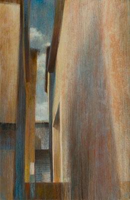 Rue, Sienne - 92x60 cm - Acrylique sur toile