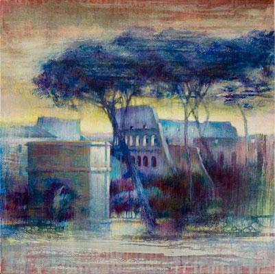 Entrée du forum - 50x50 cm - Acrylique sur toile
