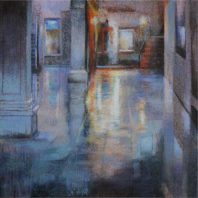 Acqua alta, Venise - 70x70 cm - Acrylique sur toile