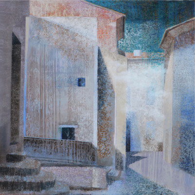 La maison des nuages - 60x60 cm - Acrylique sur toile