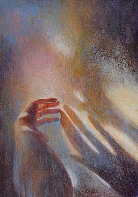 Rêverie féminine - 92x65 cm - Acrylique sur toile