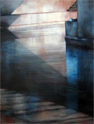 L'écluse - 61x46 cm - Acrylique sur toile