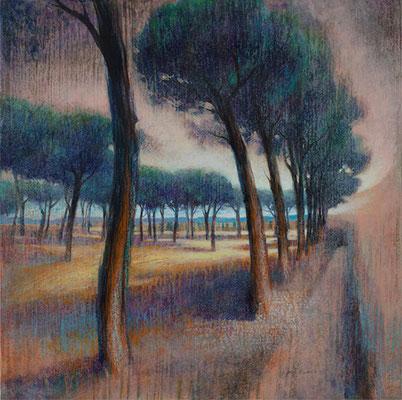 Arborescence Romaine - 70x70 cm - Acrylique sur toile