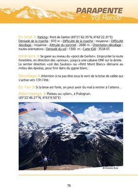 Vol randonnée en parapente au petit Mont-Blanc