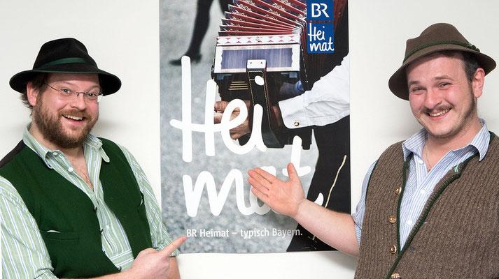 Besuch beim Radiosender BR Heimat zum Liveinterview