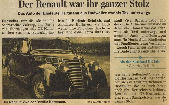 Zeitungsbericht der SZ über das Ehepaar Hartmann