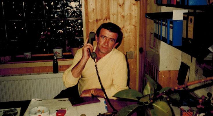 Familienoberhaupt und Werkstattleiter Dieter Spang in den 1980er Jahren