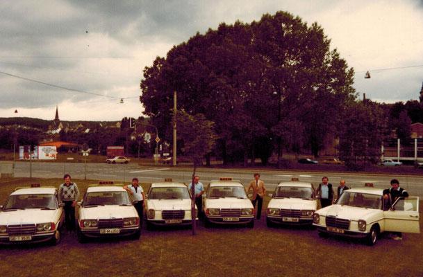 Fuhrpark in den 1980er Jahren