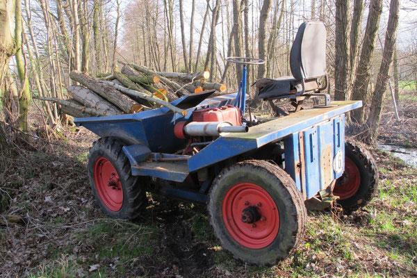 Muldenkipper mit Petter Motor 50er Jahre