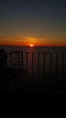 Sonnenuntergang gab es gratis dazu
