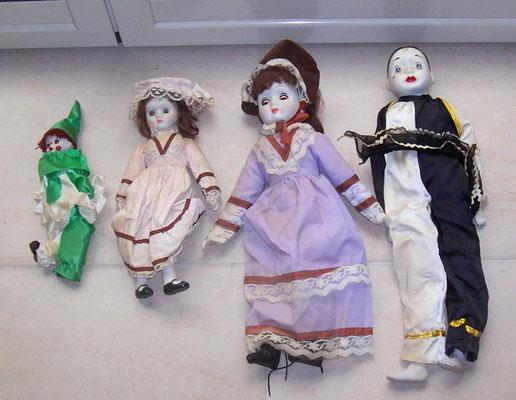 Lotto bambole di porcellana