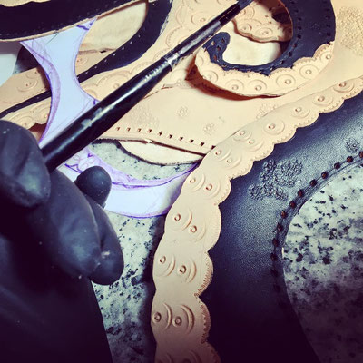 tooled tentacles making the octopus bag