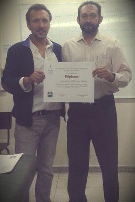 Con mi maestro de Kinesiología Mto. Catalin Rotarescu