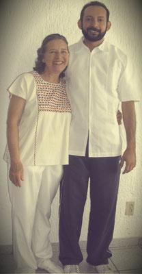 Con mi Maestra de Kinesiologia Ma. Esther Barrón