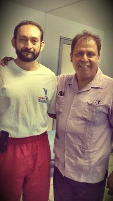 Con mi Maestro de Martillo Neurológico Dr. Josue Escobar Ramirez