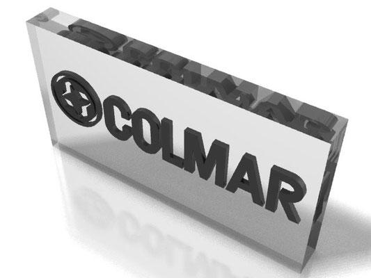 Progetto COLMAR targa in plex