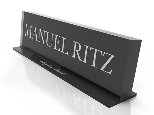Progetto MANUEL RITZ targa in plex