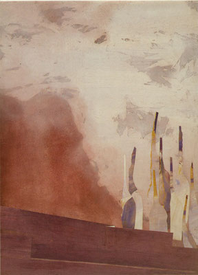 AM HORIZONT   1987   100x70   verkauft