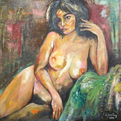 NU, 2011, Öl auf Leinwand, 100 x 100 cm