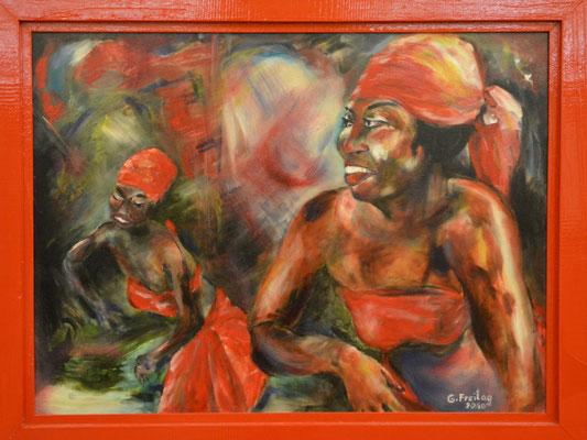 AFRICAN DANCE  |  2010, Öl auf Leinwand, 80 x 60 cm