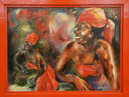 AFRICAN DANCE     2010, Öl auf Leinwand, 80 x 60 cm
