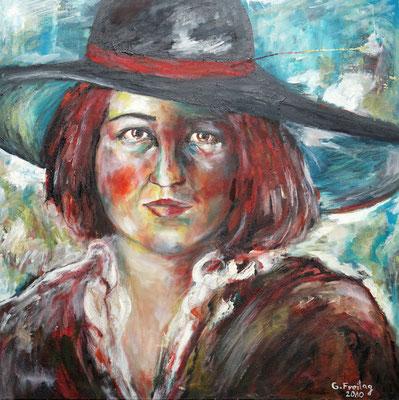 GABRIELE | 2010, Öl auf Leinwand, 70 x 70 cm