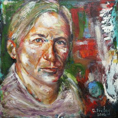 SELBSTBILDNIS | 2014, Öl auf Leinwand, 70 x 70 cm