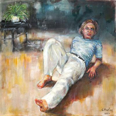 ARTIST LIFE   2020, Öl auf Leinwand, 120 x 120 cm