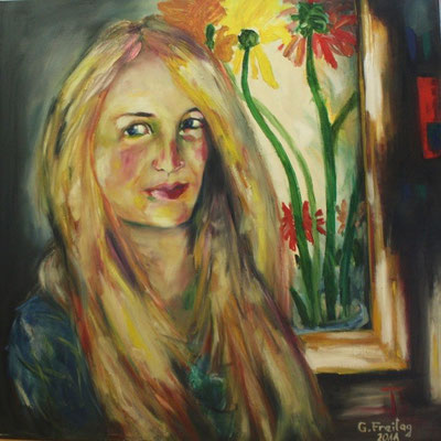 MIRJETA 2| 2011, Öl auf Leinwand, 70 x 70 cm