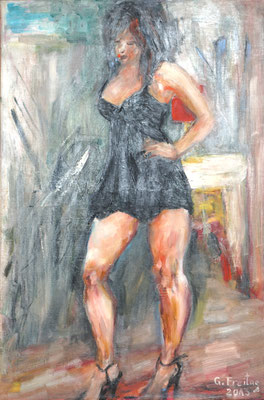 DAS MODELL | 2013, Öl auf Leinwand, 60 x 90 cm