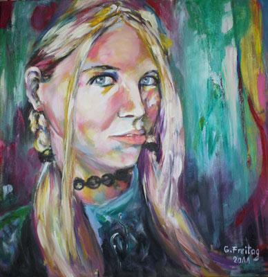 MIRJETA 1| 2011, Öl auf Leinwand, 70 x 70 cm