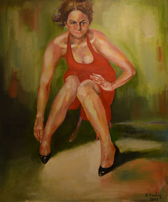 KETI BERISHA   2013, Öl auf Leinwand, 100 x 120 cm
