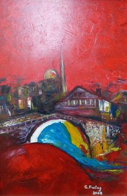 PRIZREN  | 2008, Öl auf Leinwand, 40 x 60 cm. Peivatsammlung!