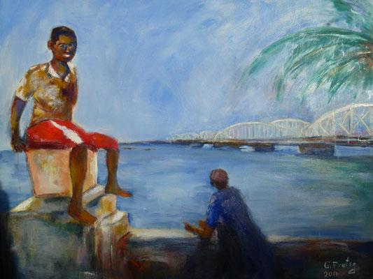 FAIDHERBE | 2017, Öl auf Leinwand, 100 x 80 cm. Privatsammlung!