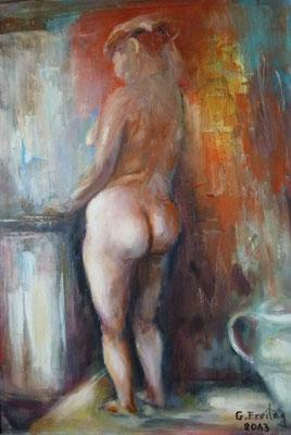 AKT   2013, Öl auf Leinwand, 50 x 70 cm. Privatsammlung!