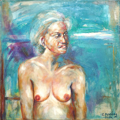 ROSWITHA, Öl auf Leinwand, 80 x 80 cm