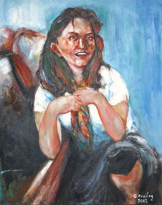 NADEGI NE PRIZREN   2012, Öl auf Leinwand, 80 x 100 cm