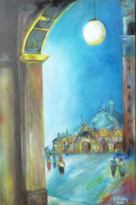 DER MARKUSDOM   2012, Öl auf Leinwand, 80 x 120 cm, Privatsammlung