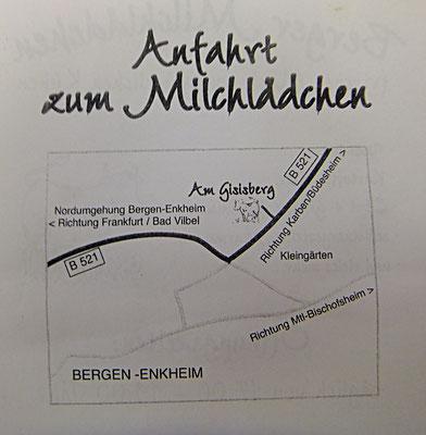 letzter Frankfurter Milchbauer Vetter in Bergen, Anfahrt