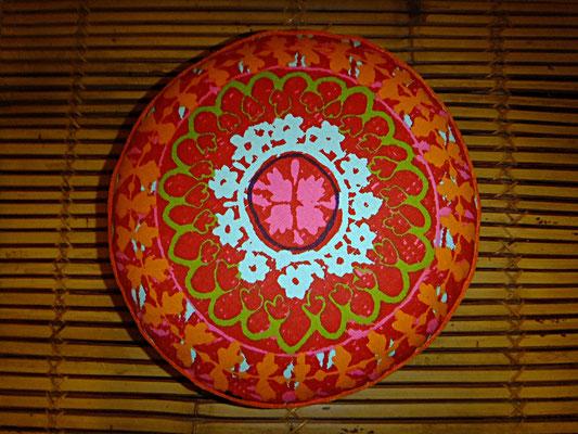 Sitzkissen Rund, meditationskissen, Yogakissen, 54 euro, Sitzkissen, Orange, Rot