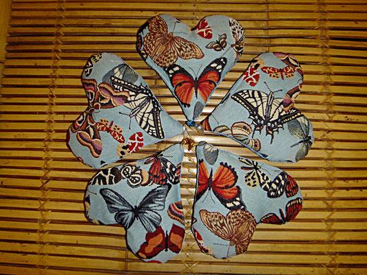 Herzkissen mit Lavendel, Schmetterling, Duftkissen, Handgelenkstütze am PC , 12 euro