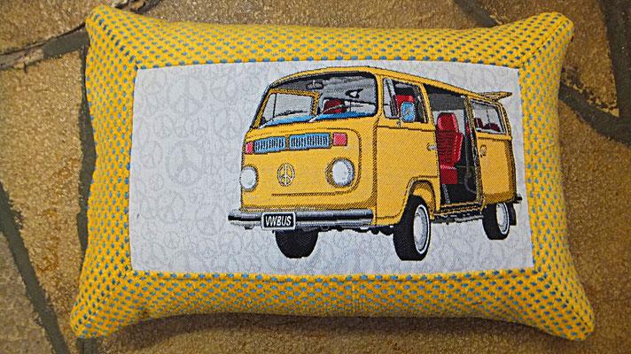 VW Bus, Kissen,  Gelb, Bulli Kissen, Gudwork Frankfurt