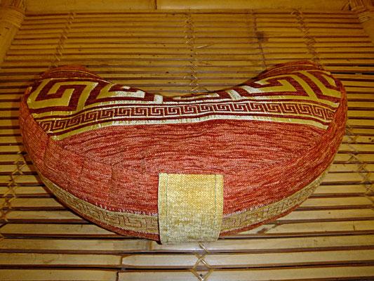 Yogakissen, Meditationskissen, Mond mit Griff, 54 euro, Rot , Meander