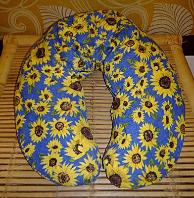 Stillkissen, gross,Inlett mit abnehmbarem  Bezug, Sonnenblume, Gesamtpreis 112 euro