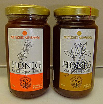 Salbei und Thymian Honig aus Kreta, Organic Farmers