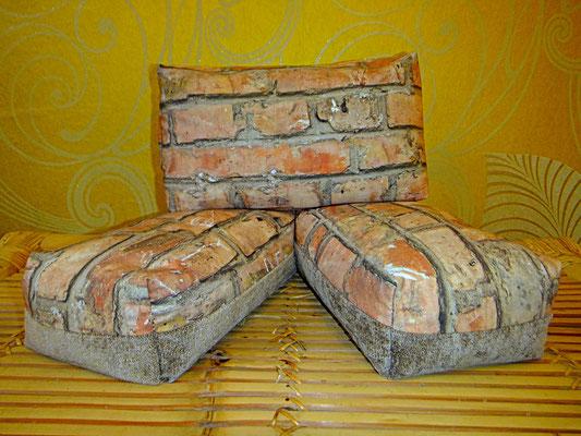 Motiv Kissen,  Mauer, Yogakissen, Meditationskissen,  1 Stück, 34 euro, ab 5 Stück 24 euro